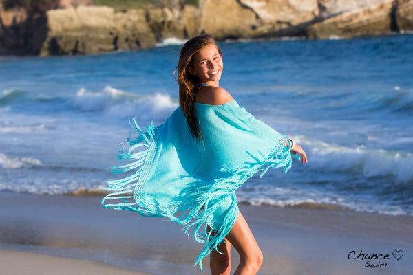 Laguna Poncho - Blue - Chance Loves Swimwear