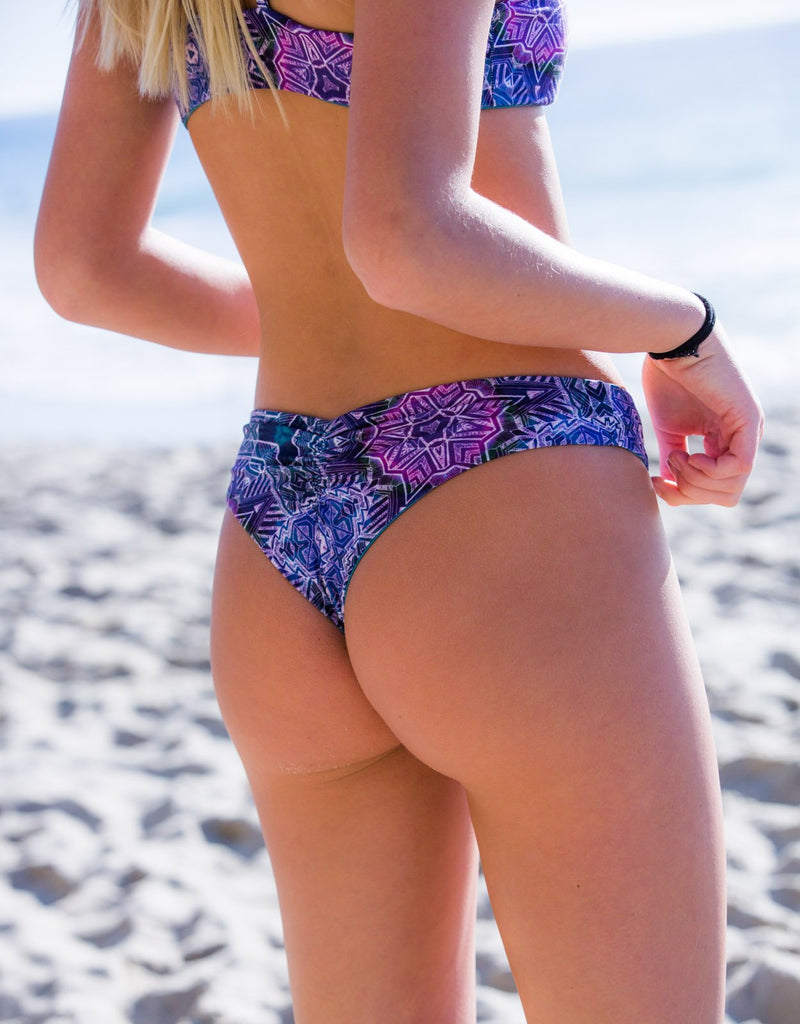 PURPLE HAZE - Reversible CHEEKY BIKINI BOTTOMS Cheeky Bikini Bottoms Chance Loves Swim