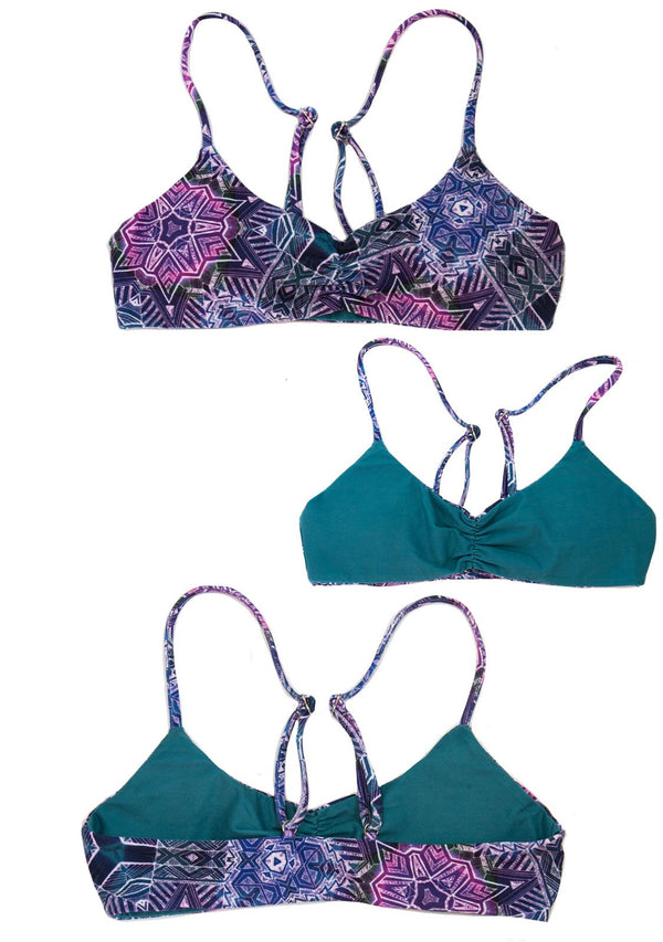 PURPLE HAZE - Reversible SCOOP BIKINI TOP Bikini Scoop Top Chance Loves Swim XS