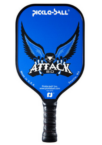 Pickle-ball Inc. Attack 2.0 Aluminum Graphite Core Pickleball Paddle