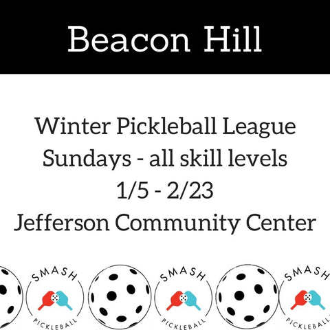League 6-week Indoor Winter Pickleball League - Sundays @ Beacon Hill - Smash Pickleball League