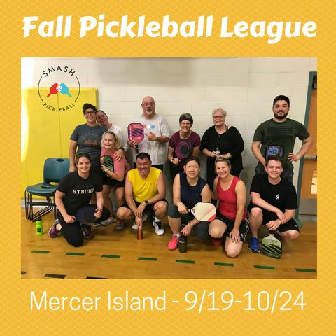 League 6-week Indoor Fall Pickleball League - Wednesdays @ Mercer Island - Smash Pickleball League