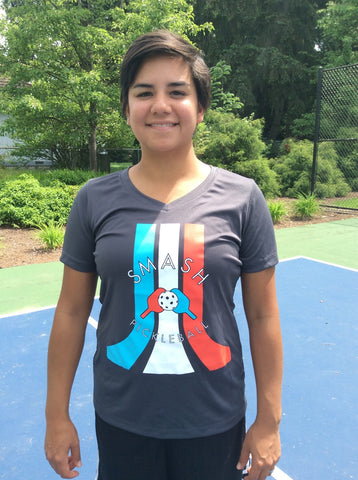 Shirts V-neck Slim Performance Tshirts - Smash Pickleball Shirts