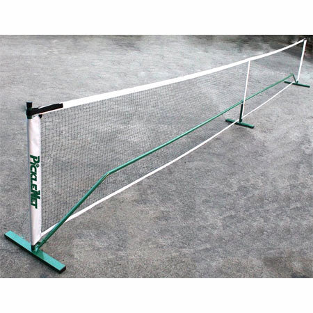 Portable pickleball net fits most sport courts