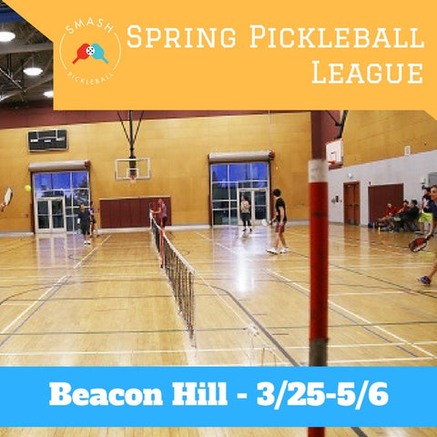 League 6-week Indoor Spring Pickleball League - Sundays @ Beacon Hill - Smash Pickleball League