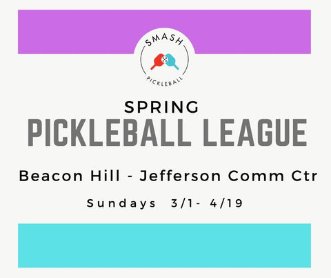 League Indoor Spring Pickleball League - Sundays @ Beacon Hill - Smash Pickleball League