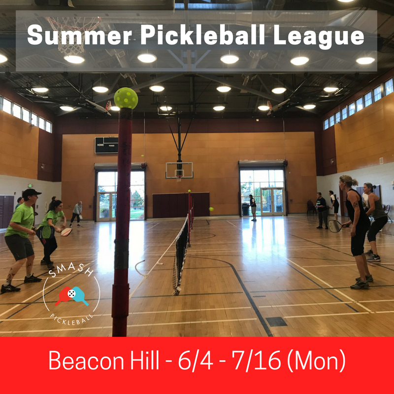 6-week Indoor Summer Pickleball League - Mondays @ Beacon Hill