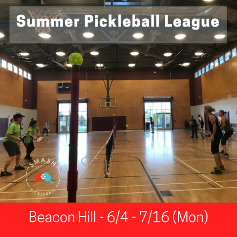 League 6-week Indoor Summer Pickleball League - Mondays @ Beacon Hill - Smash Pickleball League