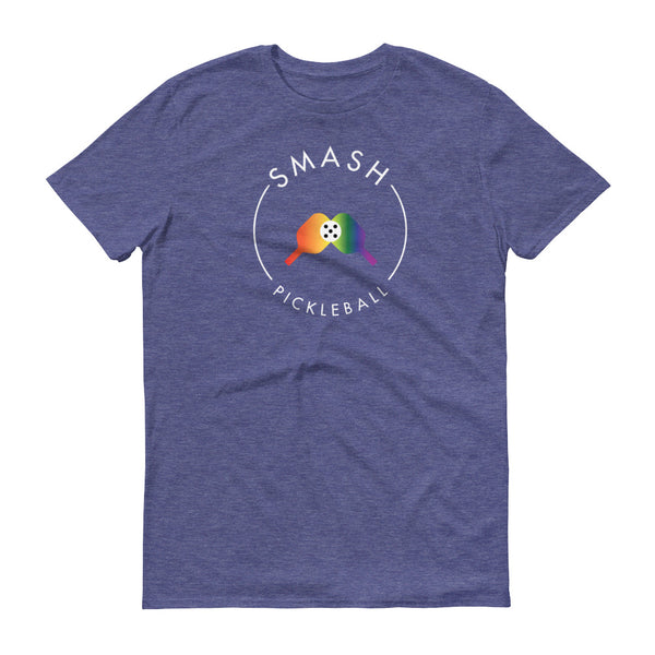 Shirts Rainbow Smash Pickleball Tee - Unisex - Smash Pickleball Shirts
