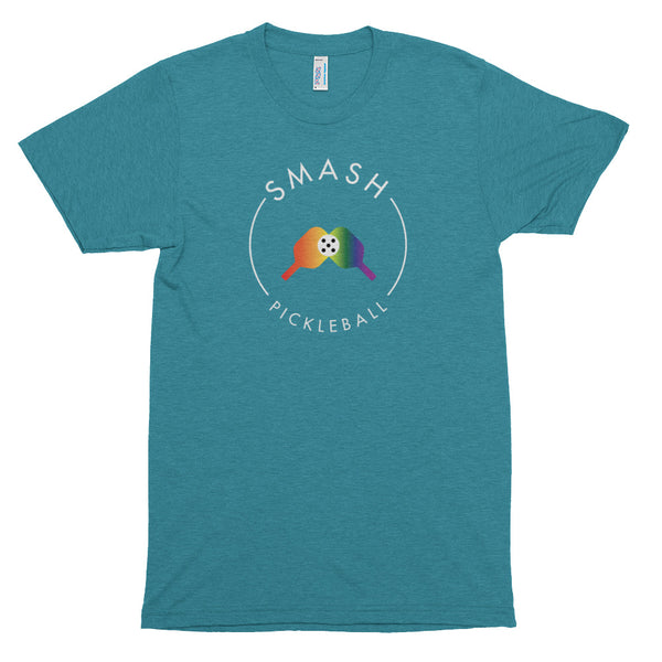 Rainbow Smash Pickleball Track Shirt American Apparel - Smash Pickleball