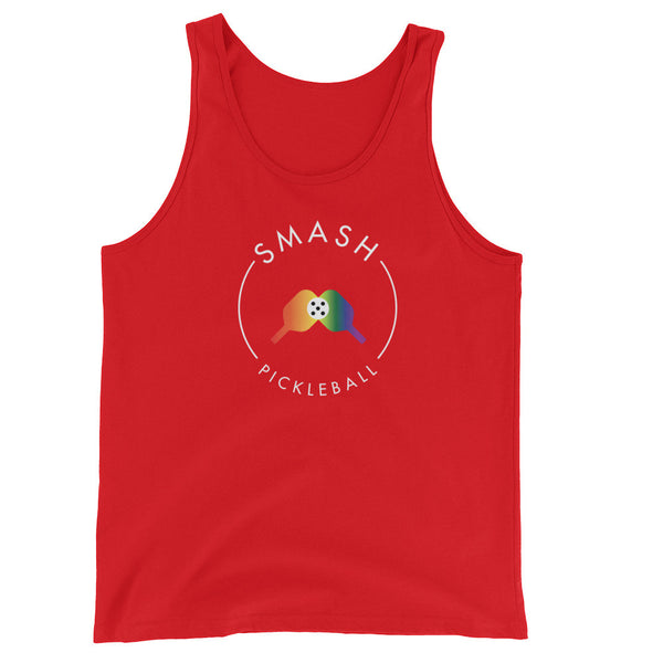 Rainbow Smash Picklball Unisex Tank