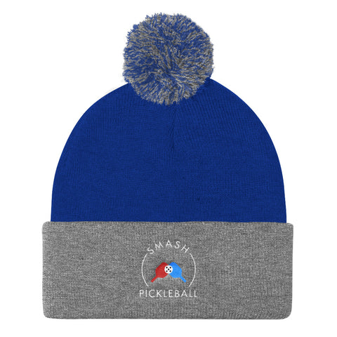 Smash Pickleball Pom Pom Beanie
