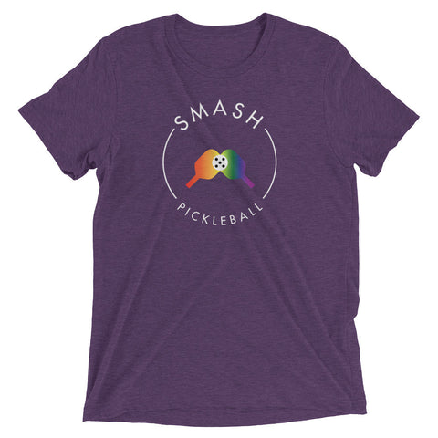 Rainbow Smash Pickleball Tri-Blend Tee
