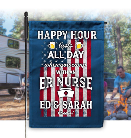 camping flag for nurses