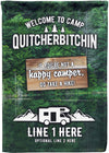 🌲Welcome to Camp Quitcherbitchin Personalized Camp Flag