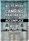 More Than Just Camping Partners Flag - personalized camping sign