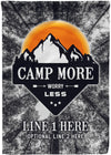 Camp More Worry Less Camping Flag