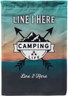Camping Life Personalized Flag