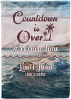 Countdown Is Over Cruise Flag - personalized camping sign