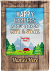Happy Campers Flag - personalized camping sign