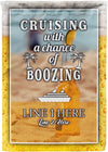 Cruising with a Chance of Boozing Flag - personalized camping sign