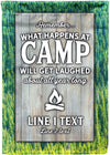 *NEW* What Happens At Camp Flag - personalized camping sign