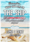 What Happens on The Ship Personalized Cruise Flag! - personalized camping sign