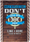 Don't Fall Off The Ship Cruise Flag - personalized camping sign