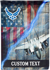 Personalized Airforce Veteran Flag F-15