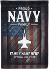 Amazing Proud Navy Family Personalized Flag! - personalized camping sign