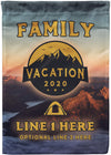 Family Vacation 2020 Camping Flag