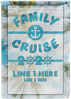 Family Cruise 2020 Flag - personalized camping sign