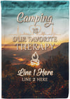 Camping Is Our Favorite Therapy Personalized Flag - personalized camping sign