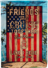 Cruise Together Last Forever Flag - personalized camping sign