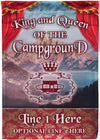 King and Queen of the Campground Personalized Flag