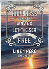 Let The Sea Set You Free Cruise Flag - personalized camping sign