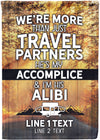 More Than Just Travel Partners Flag - personalized camping sign