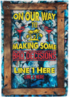 Making Some Bad Decisions Cruise Flag - personalized camping sign