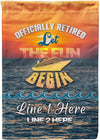Officially Retired Cruise Flag - personalized camping sign