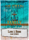 Oh Ship It's A Cruise Trip Flag - personalized camping sign