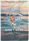 The Sea Is In Our Soul Cruise Flag - personalized camping sign