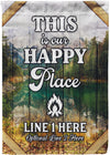 This Is Our Happy Place Camping Flag