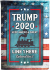 Keeping America Great Personalized Flag - personalized camping sign