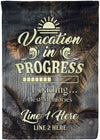 Vacation In Progress Cruise Flag - personalized camping sign