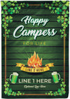 Awesome Personalized St. Paddy's Camping Flag - personalized camping sign