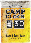 🍻 Official Camp Clock Personalize Sign