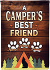 A Campers Best Friend Personalized Flag