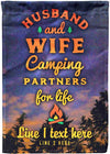 💞 Husband and Wife Camping Flag