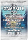 ⛺ Our Campsite Rules Personalized Flag