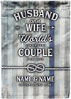 Amazing Flag for the Strongest Couples - personalized camping sign